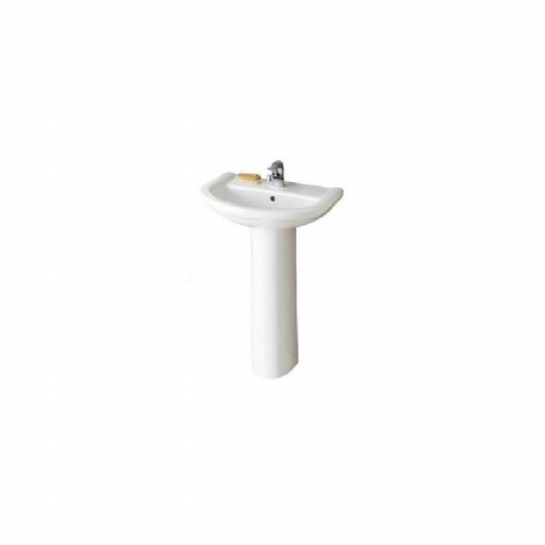 Eastbrook Pluton Basin & Pedestal - 1 Tap Hole - 555mm Wide